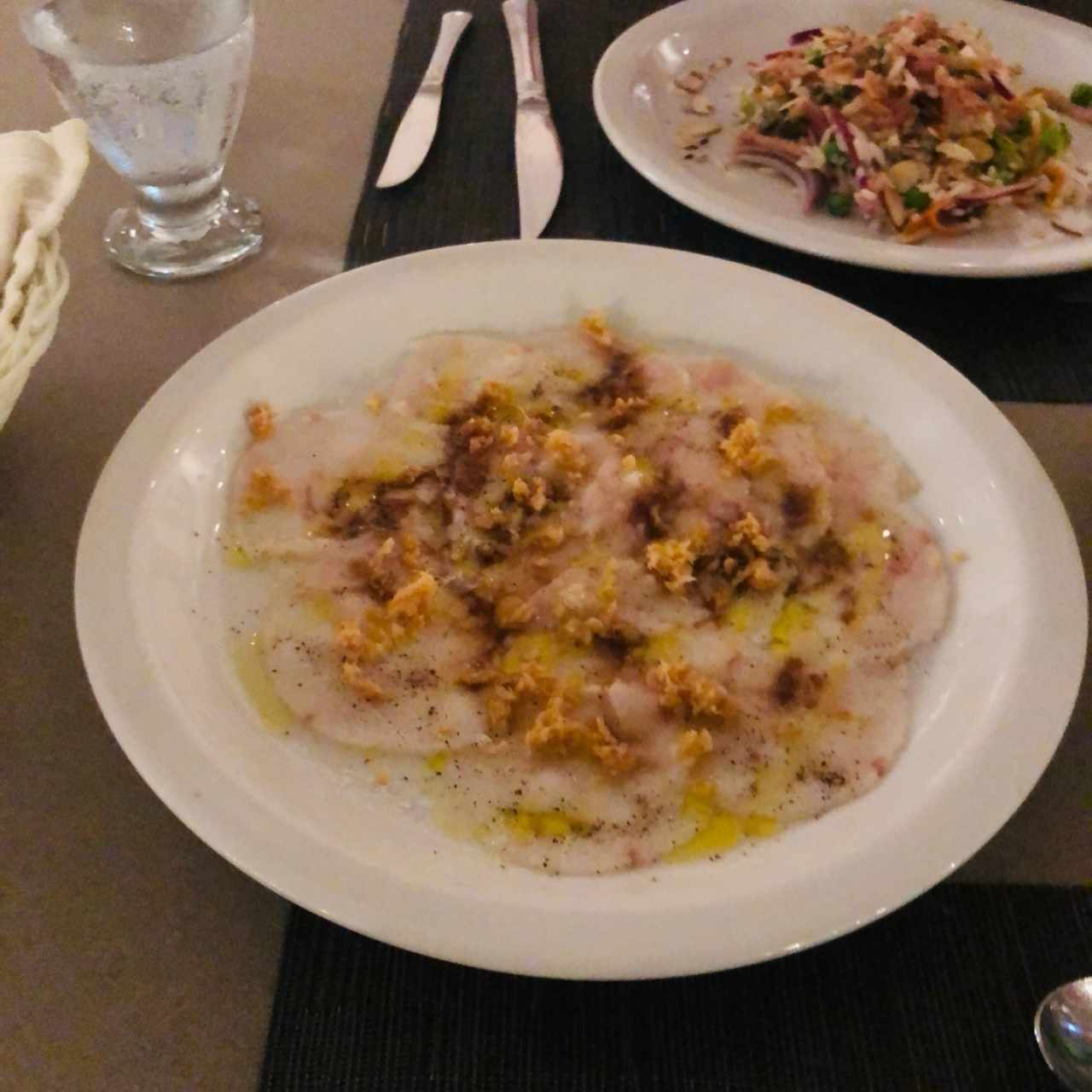carpacho de corvina