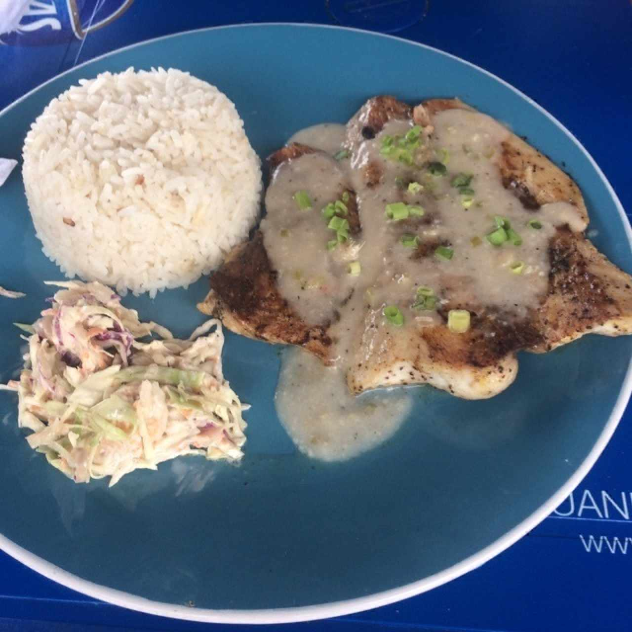 Filete de pescado thai con arroz con coco