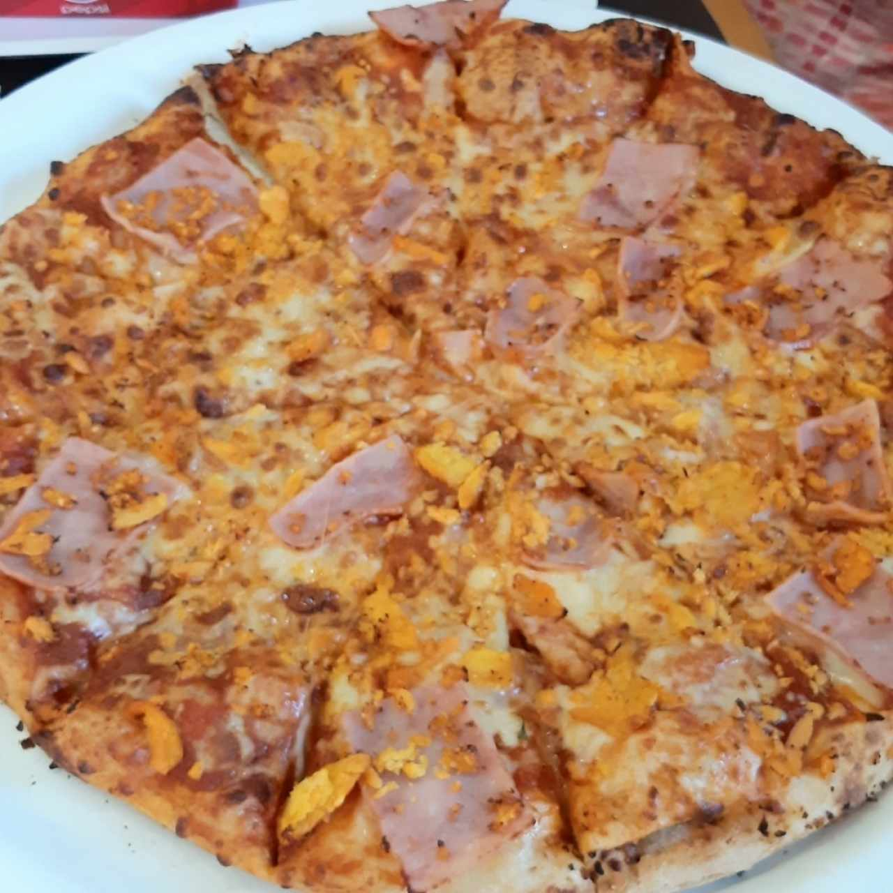 pizza de jamón familiar