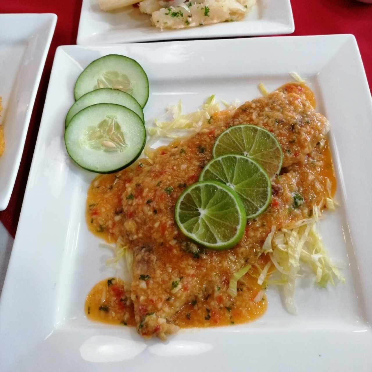 Filete de Corvina al Ajillo