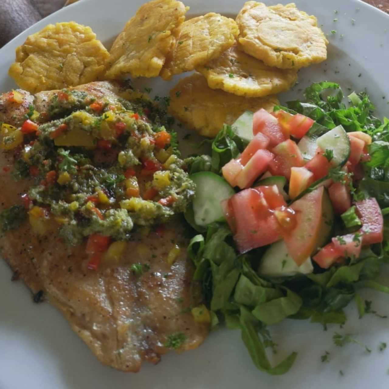 Filete de pargo.