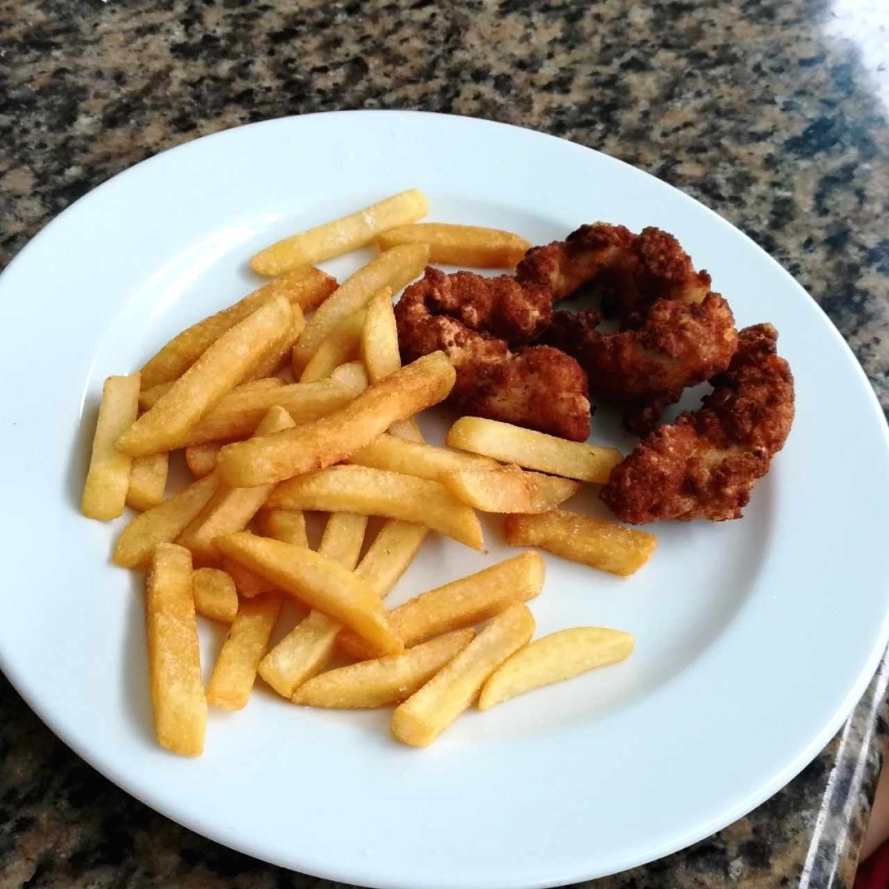 chicken tenders and fries - pedido especial