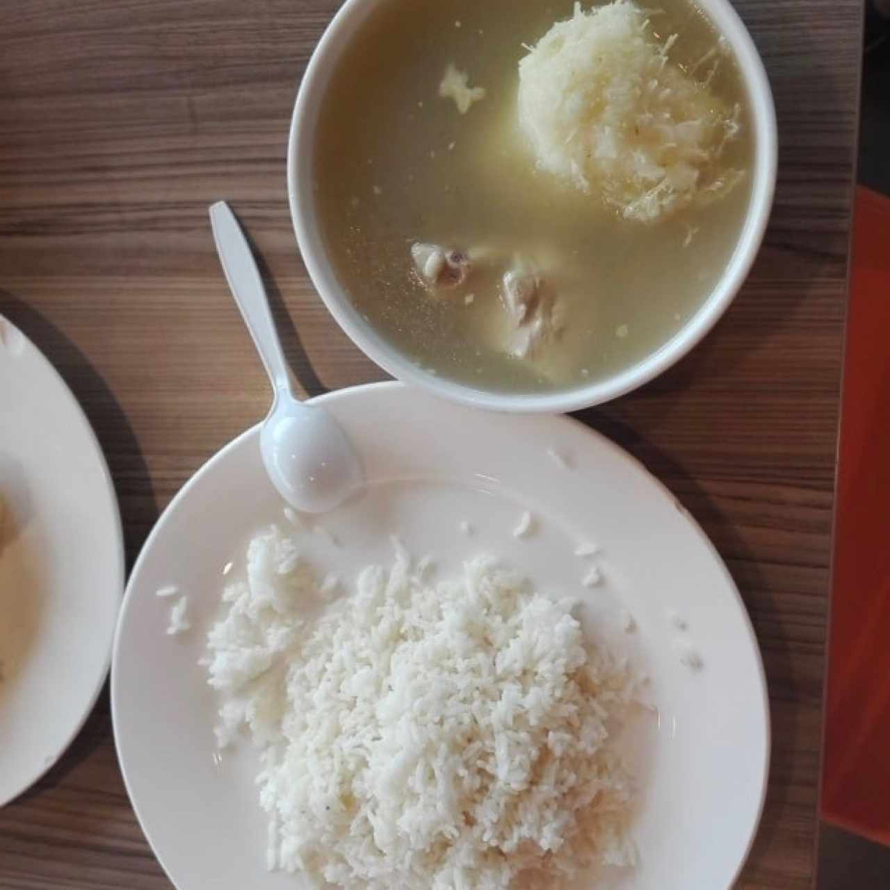 sancocho y arroz blanco