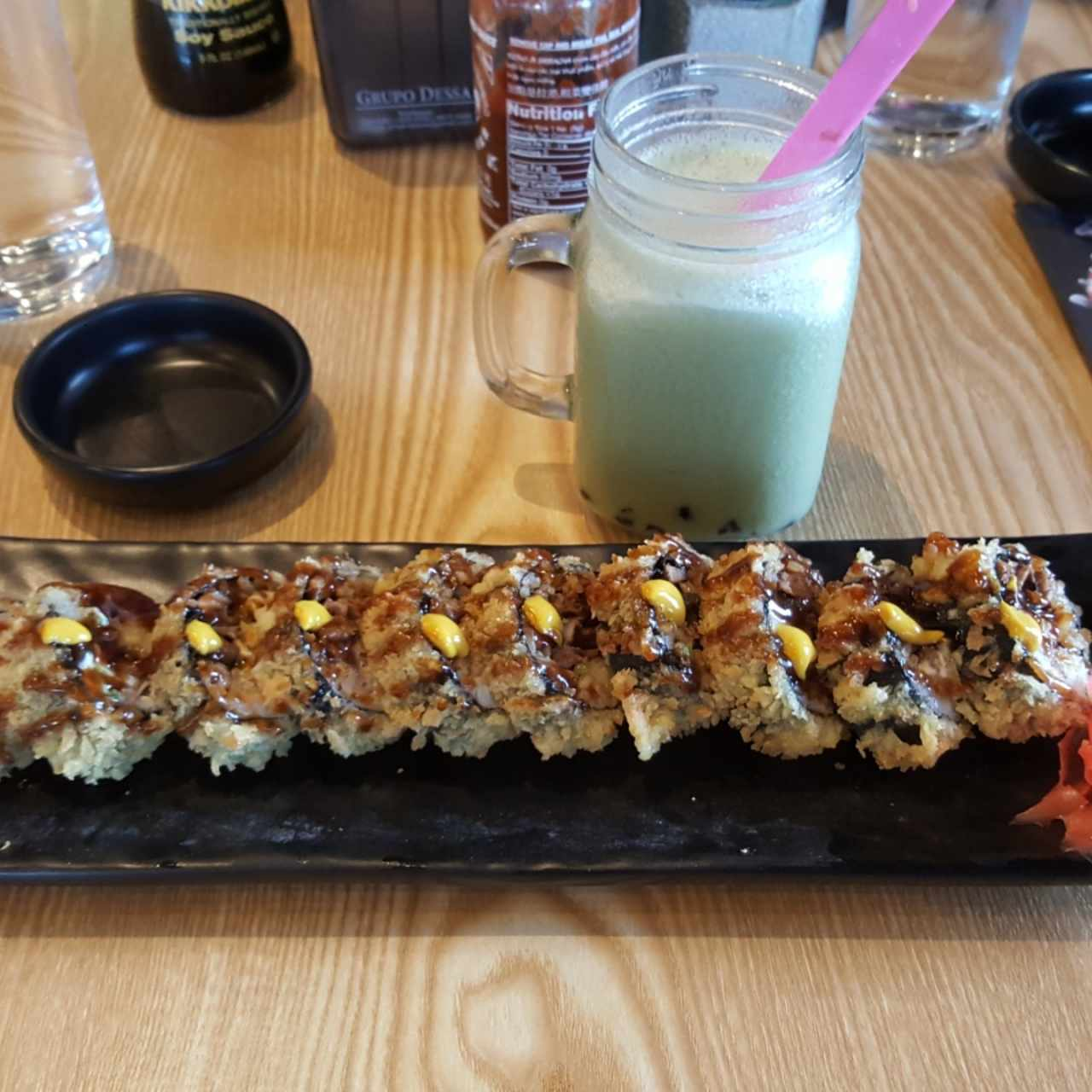 Niku roll + Bubble tea matcha