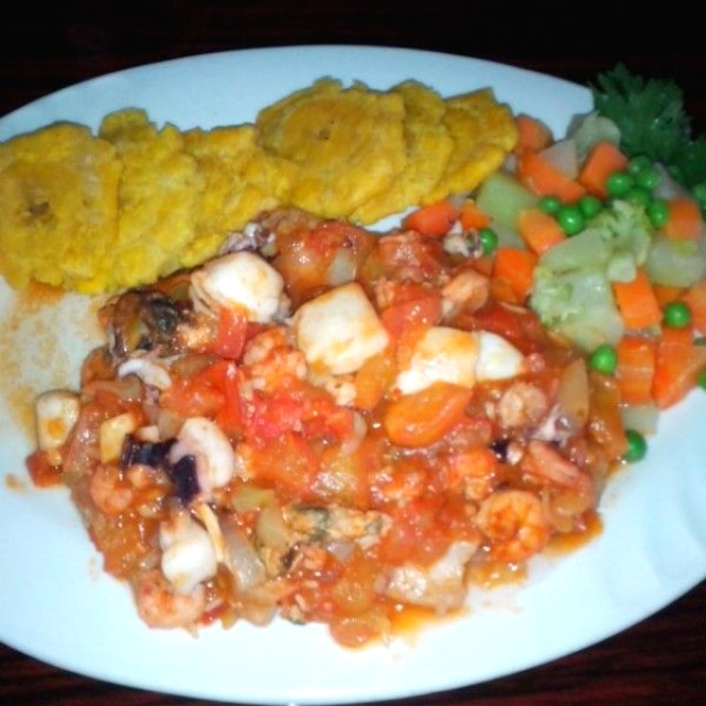 Filete relleno de mariscos