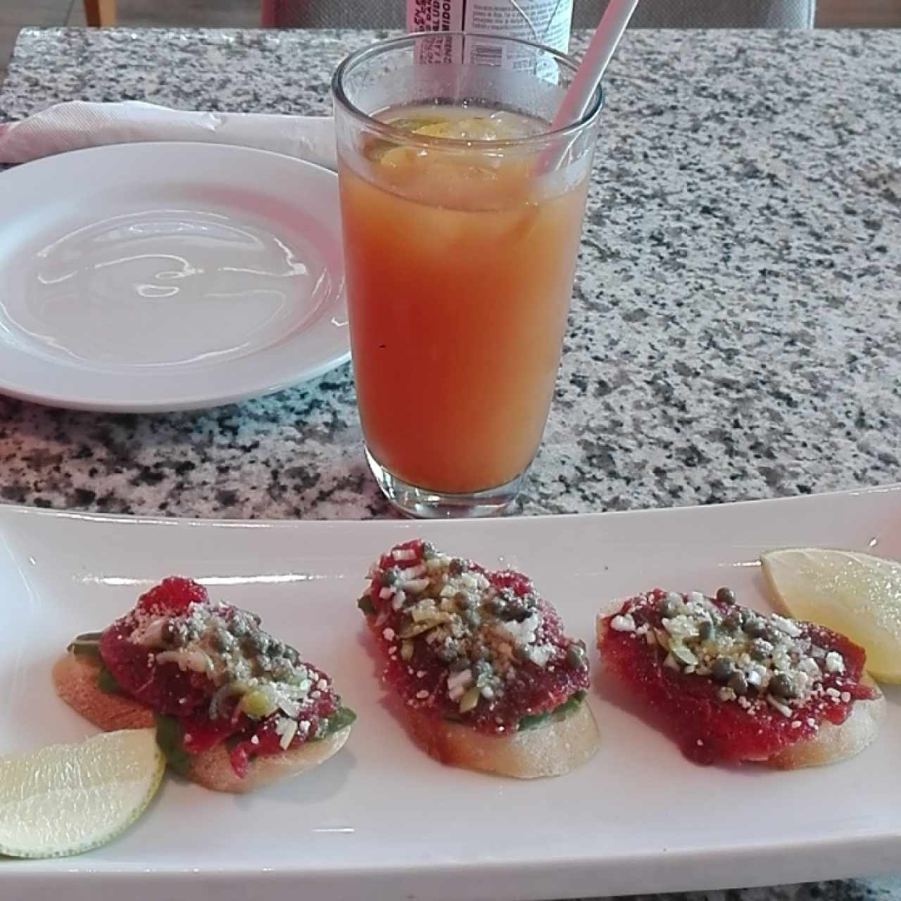 brochetas de carpaccio
