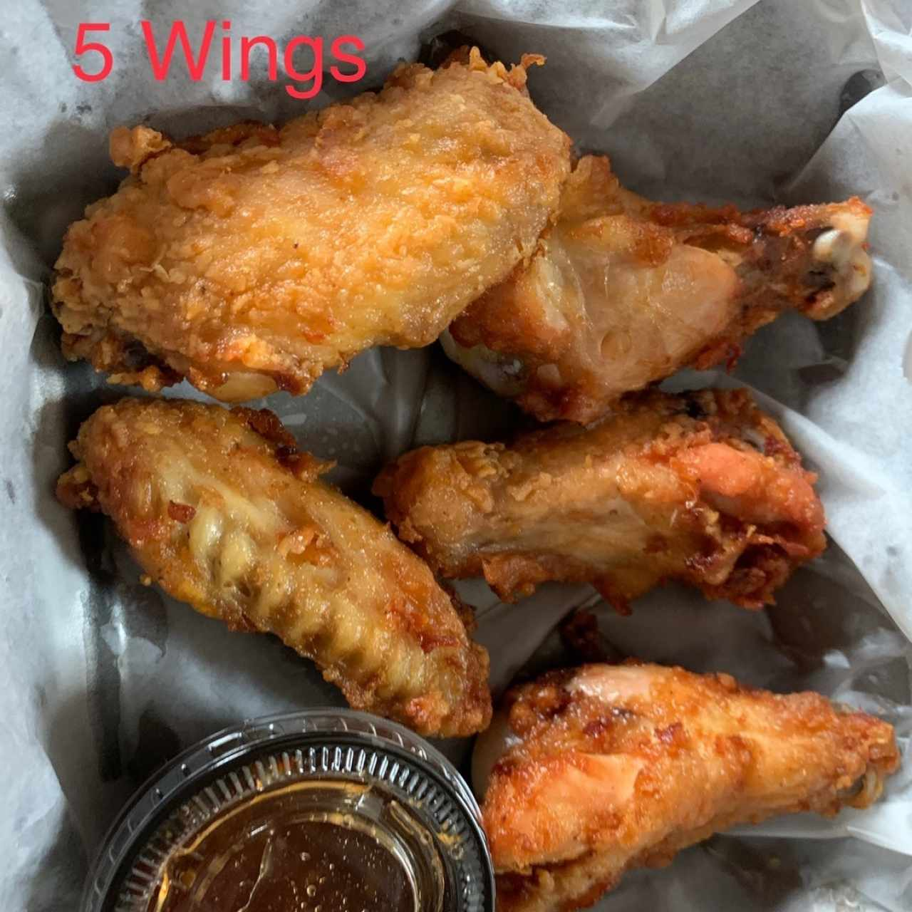5 Wings with Sweet Chilli Sauce