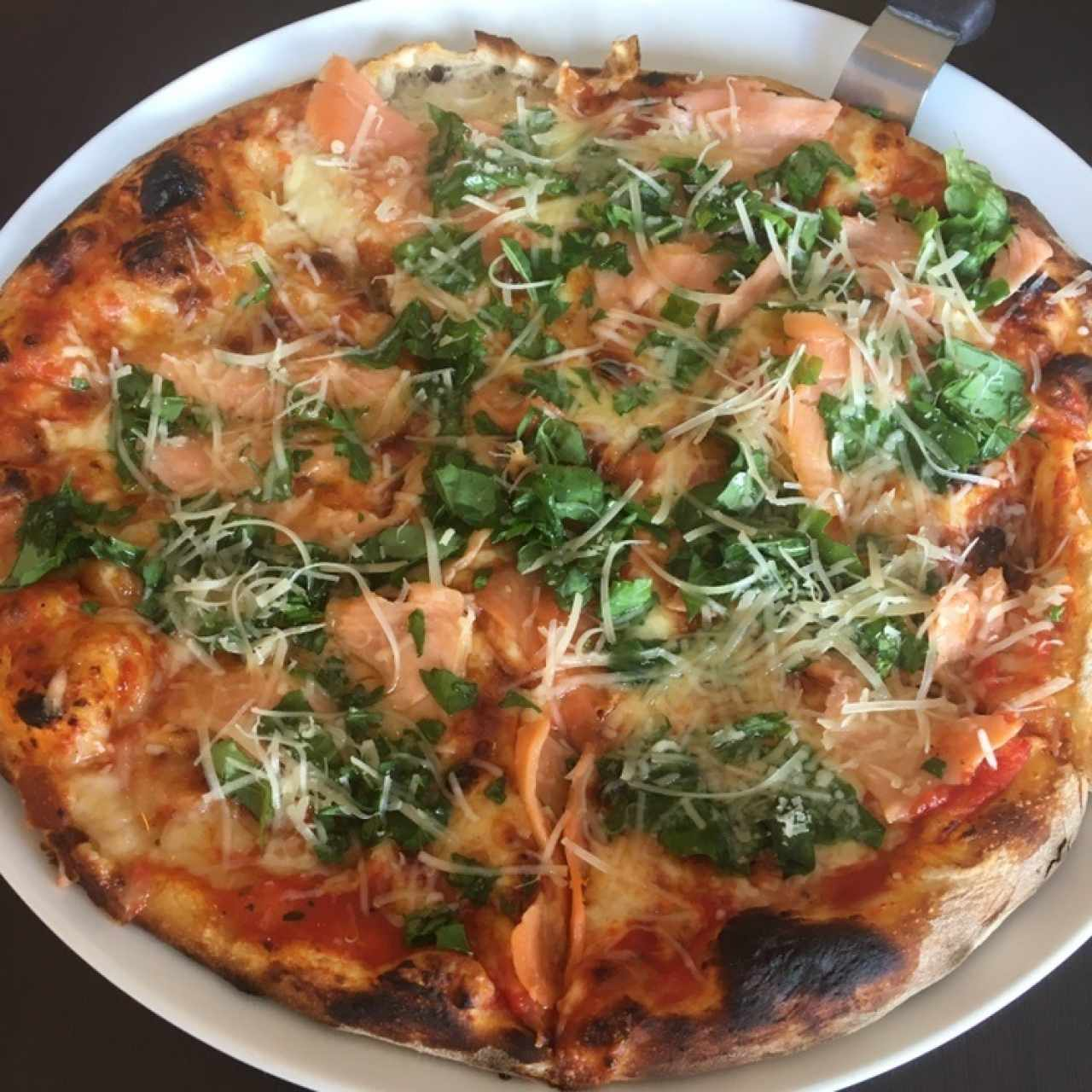 pizza de salmon