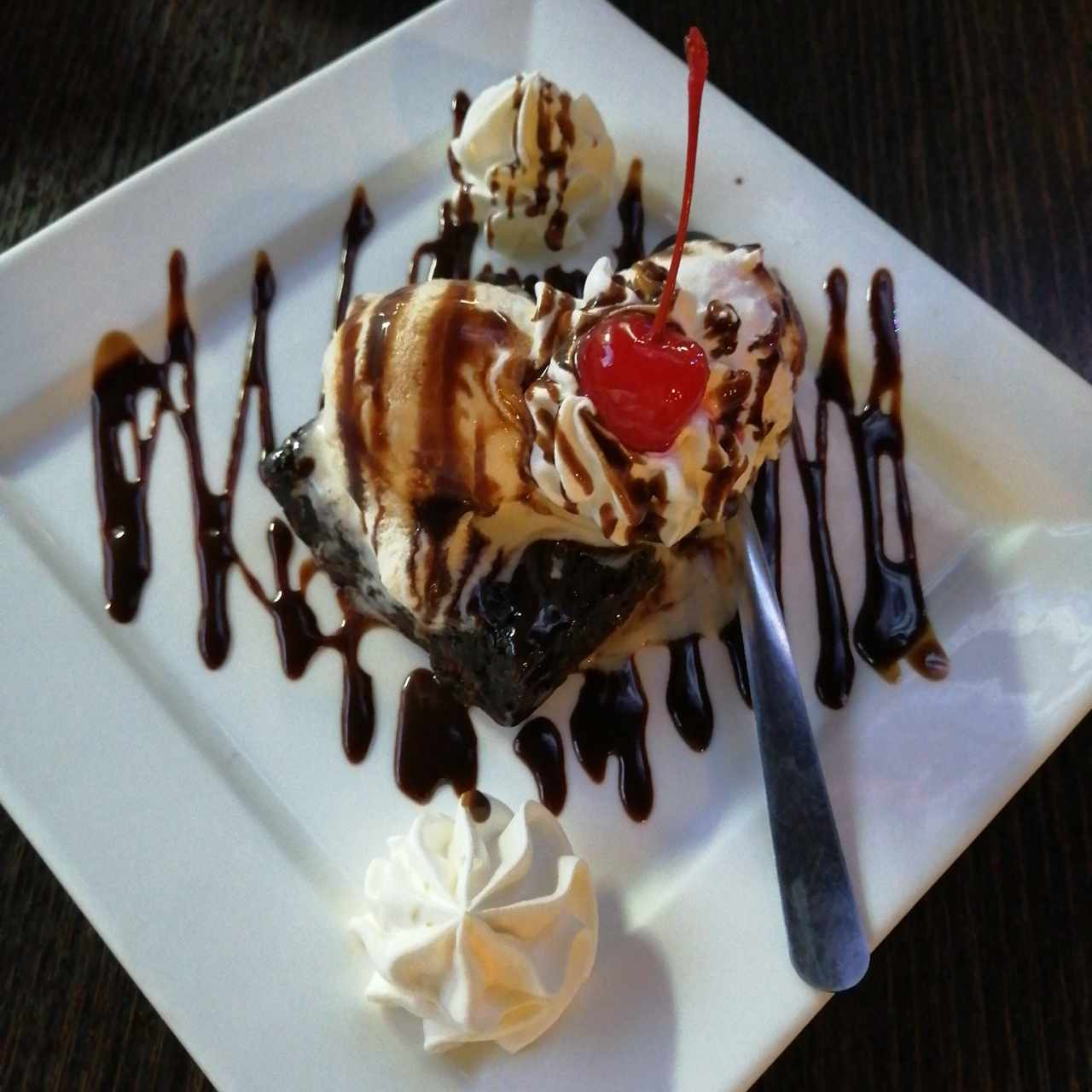 Helado con Brownie  chocolate