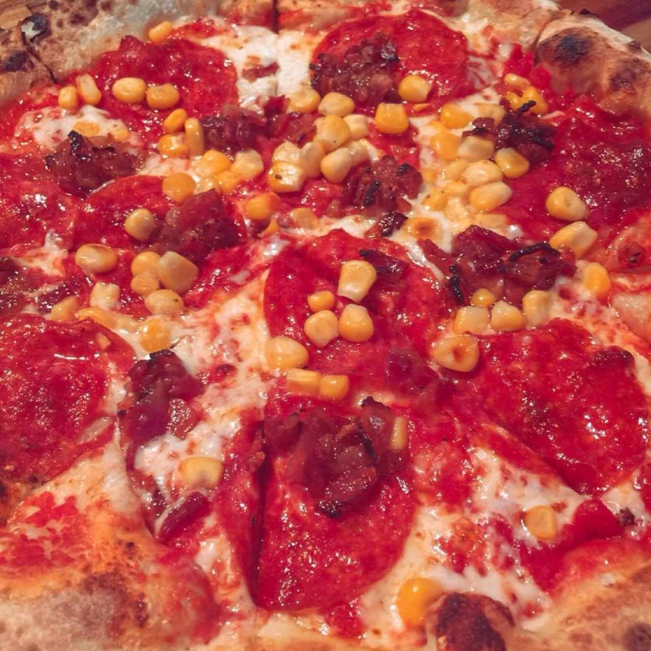 Pepperoni con maíz🤩