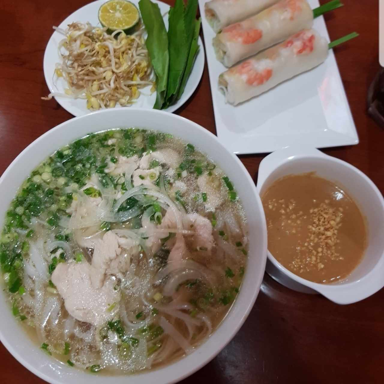 Pho Ga (pollo) y Nem Song (fresco)