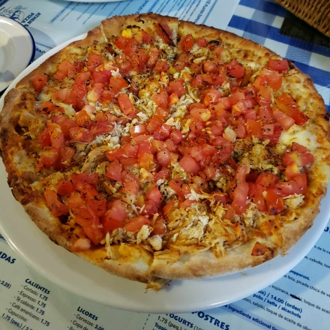 pizza de pollo especial