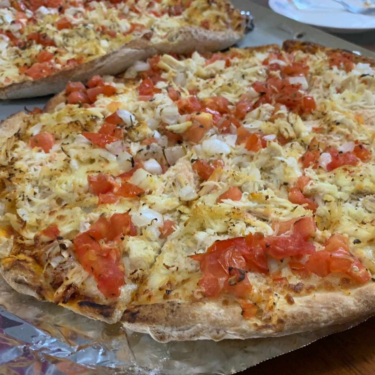 Pizza especial de pollo