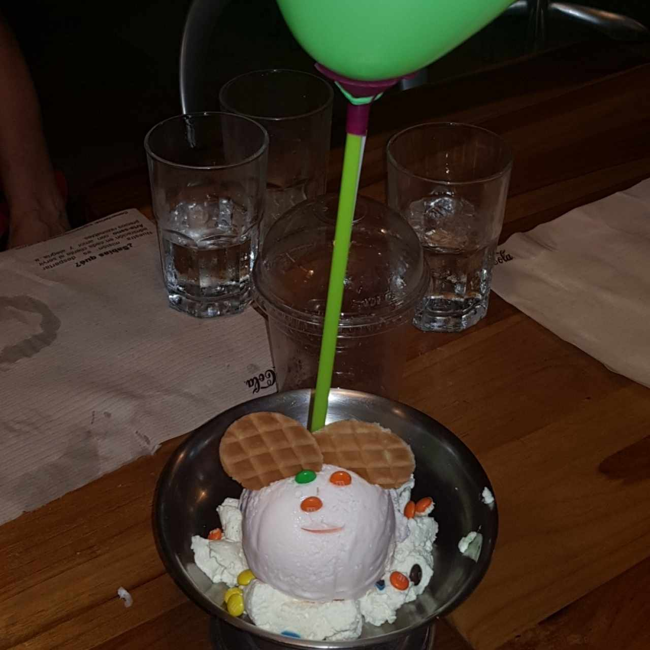helado de chicle