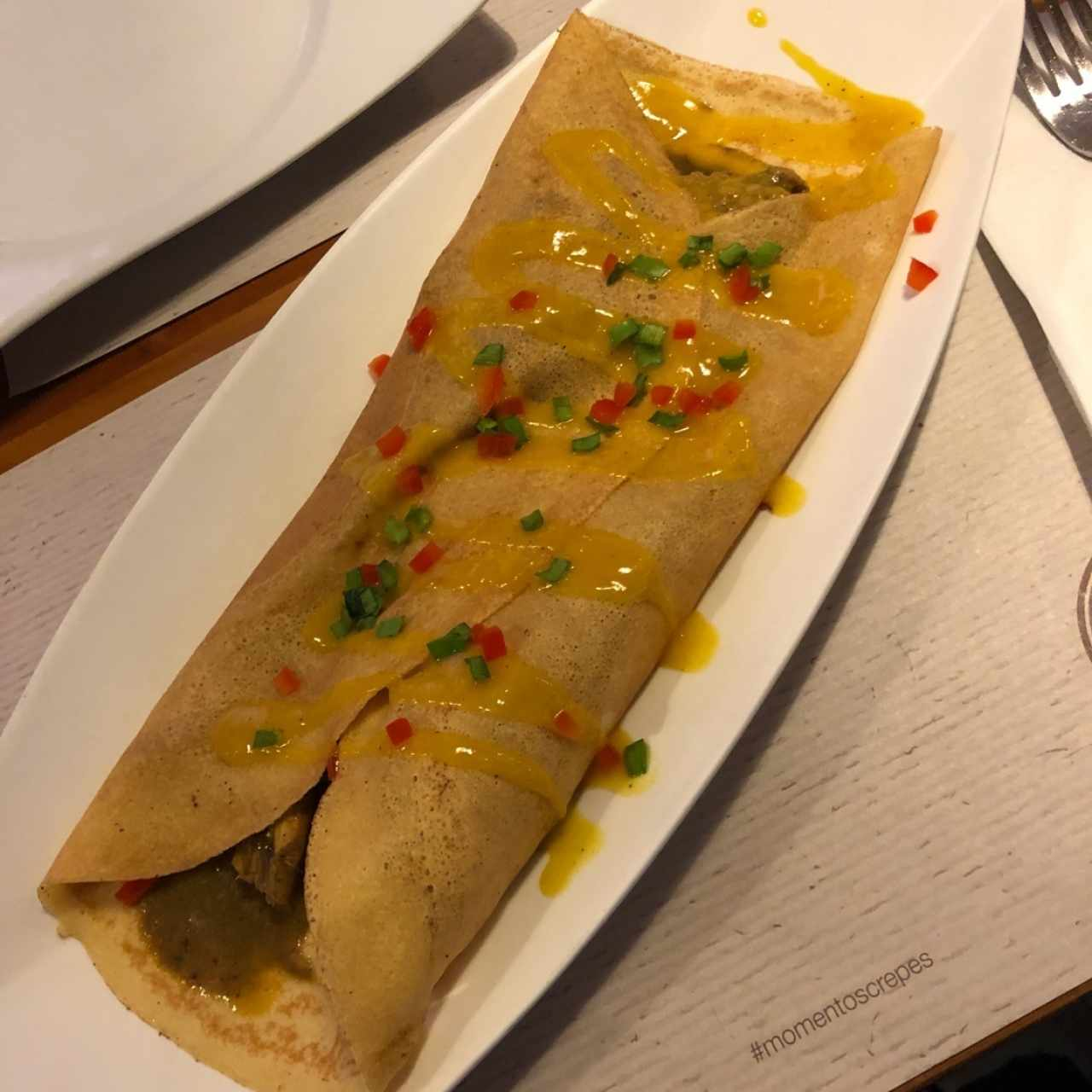 crepes pollo thai