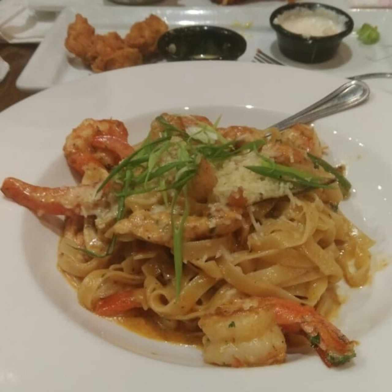 Cajun Chicken & Shrimp pasta