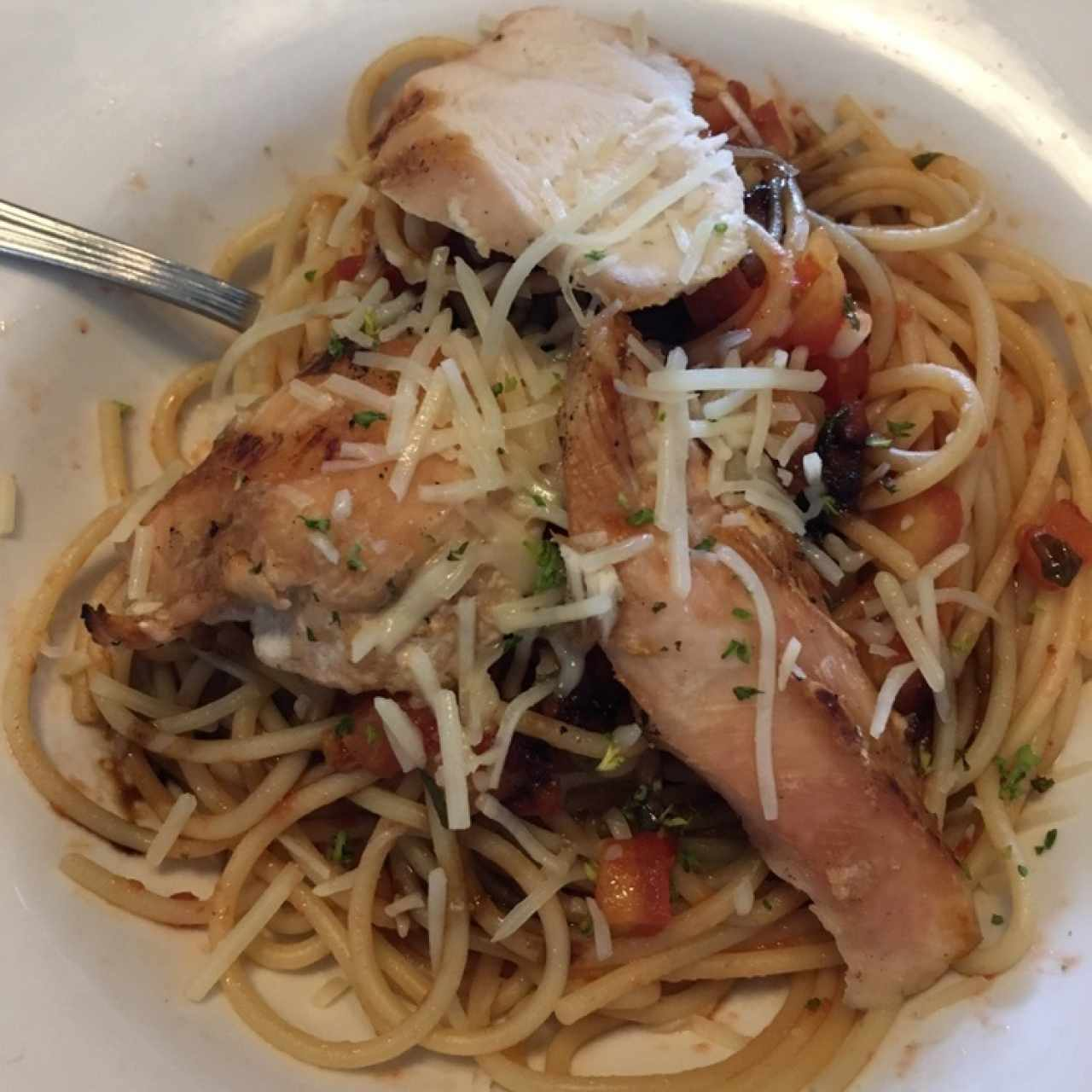 Bruschetta chicken pasta