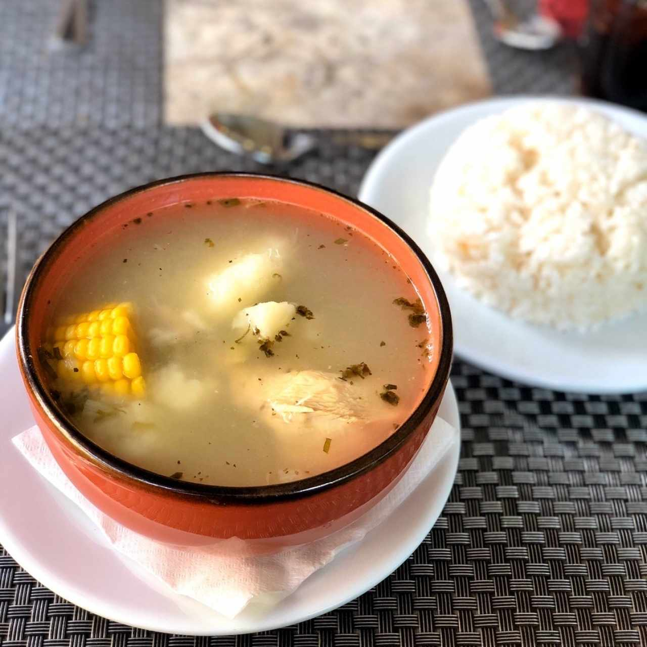 Sancocho Tableño con Arroz con coco