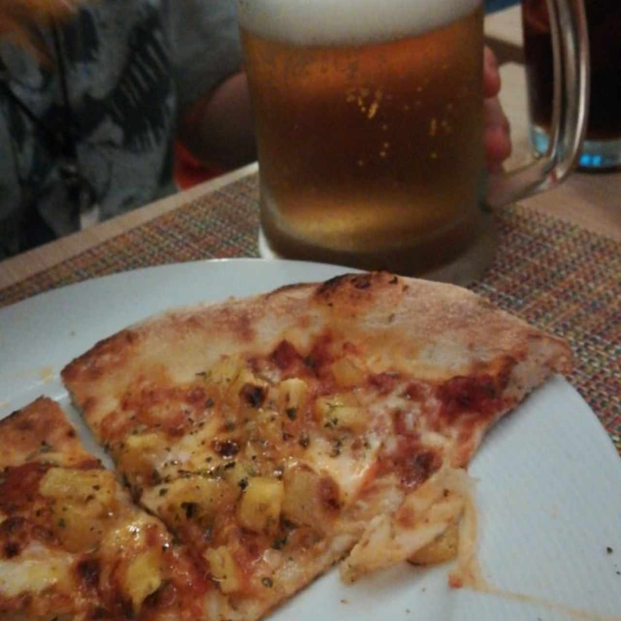pizza hawaiana sin jamón