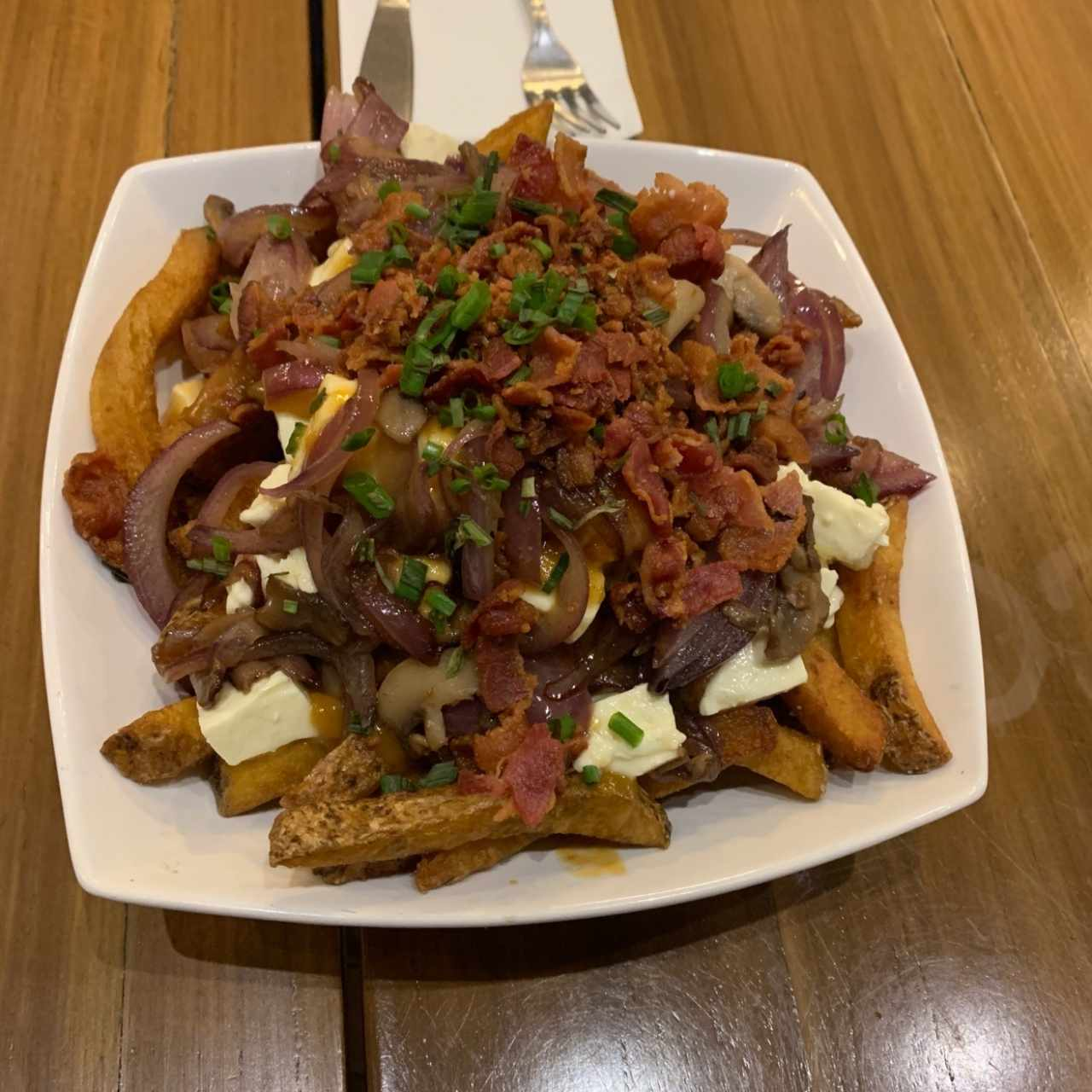 Poutine con Bacon