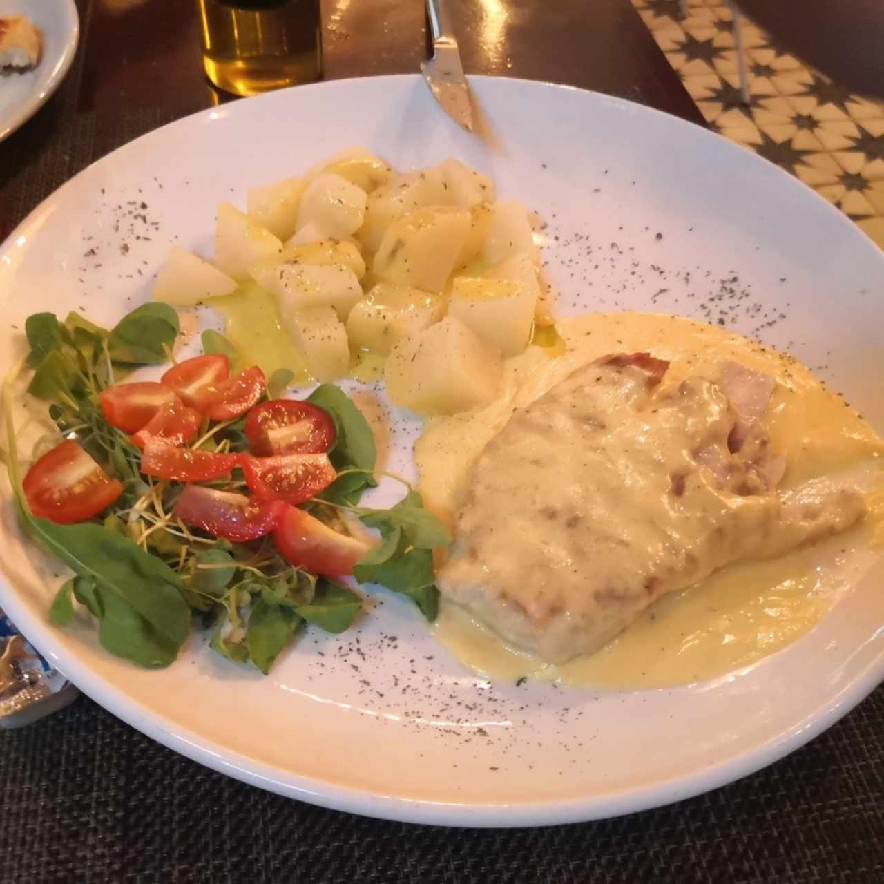 corvina con papas