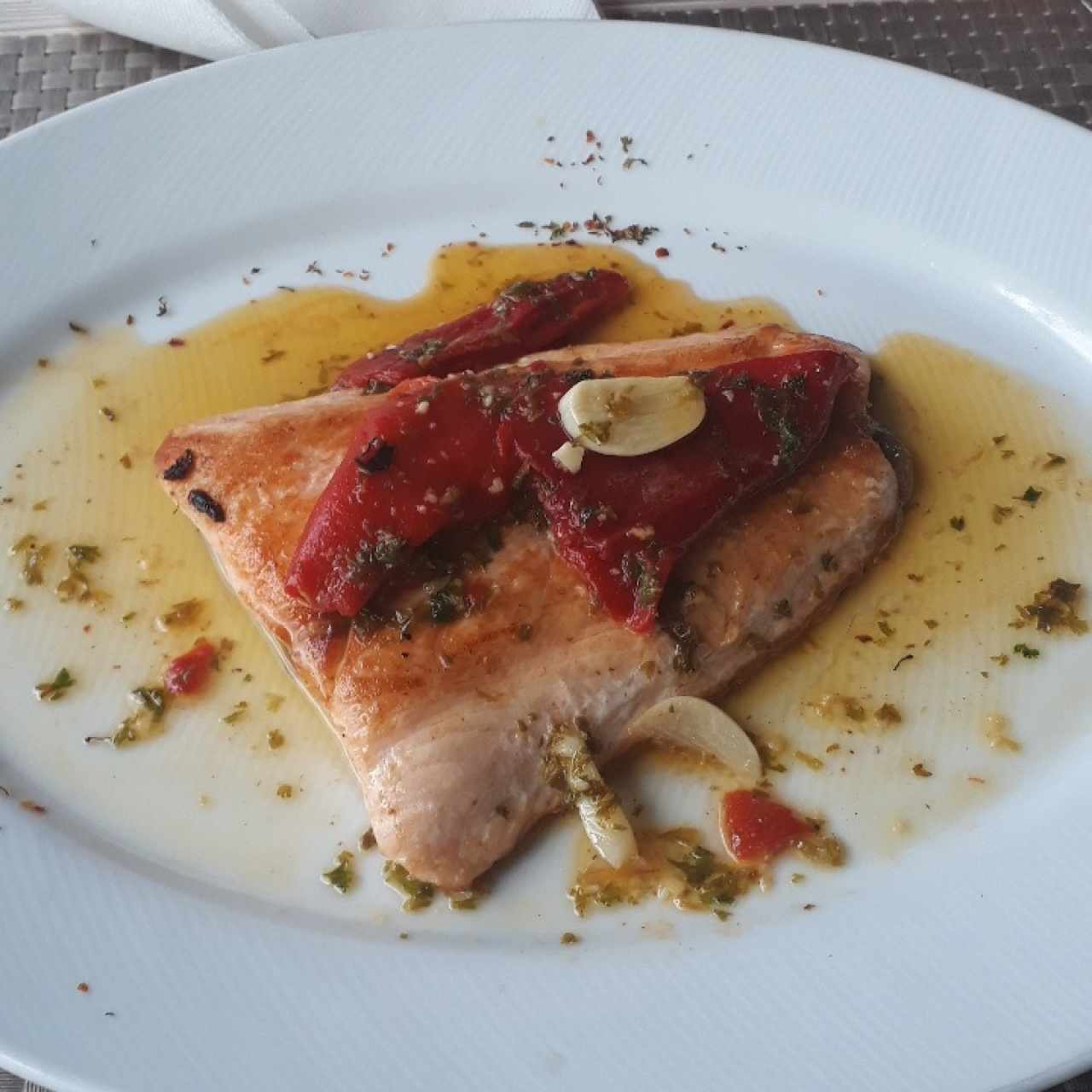 churrasco de salmon