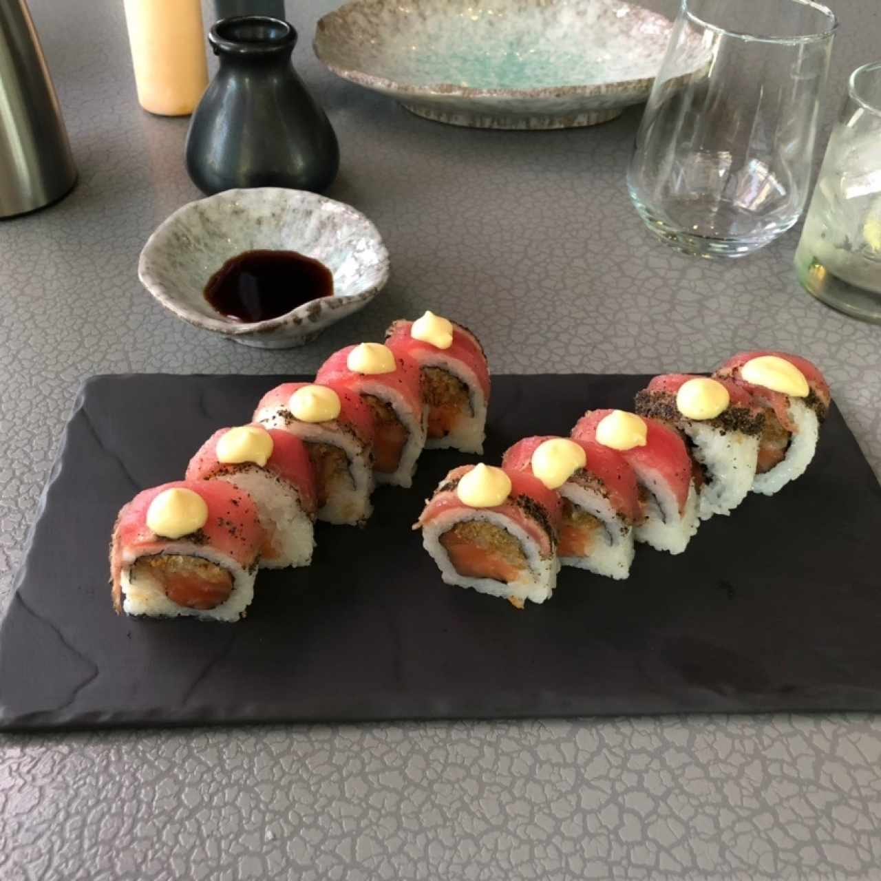 Sushi Bar - KAVA roll, a good example of fusion sushi, like it.