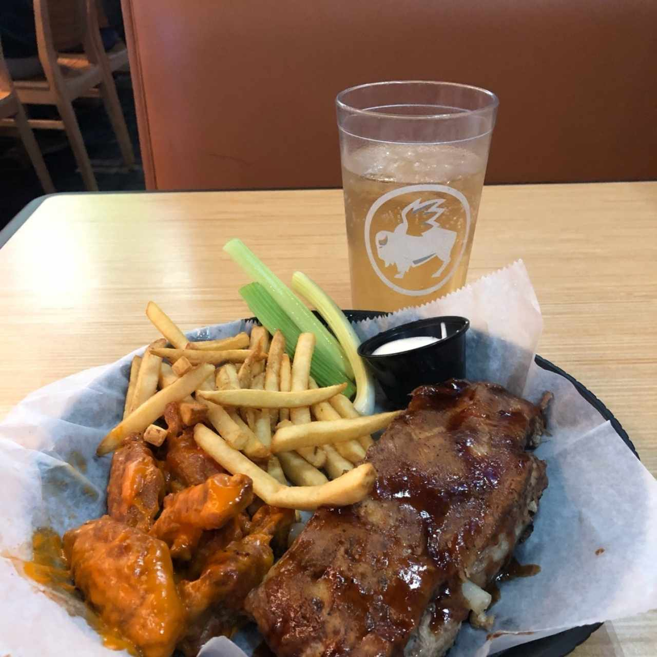 RIBS AND WINGS COMBO
