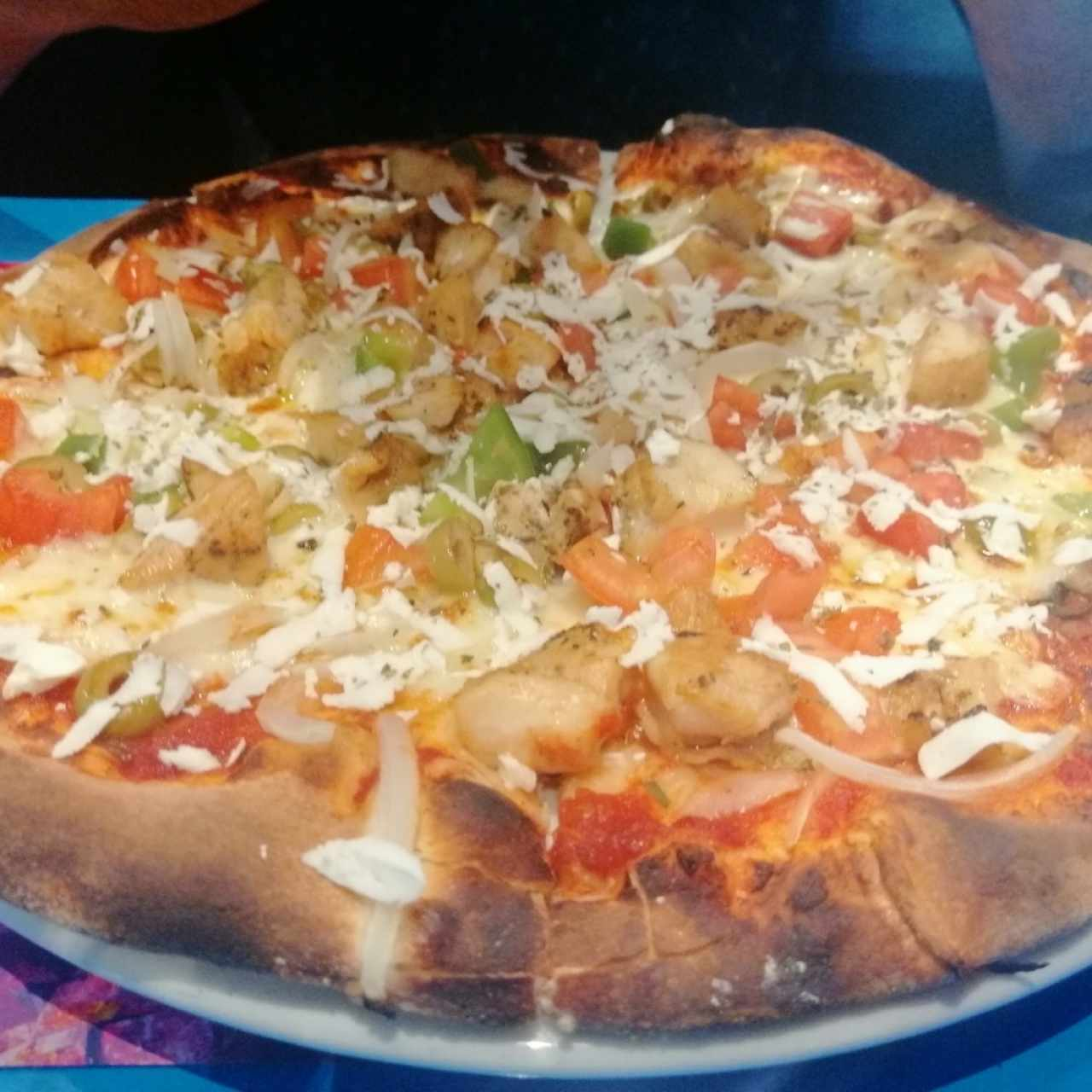 pizza clásica de pollo