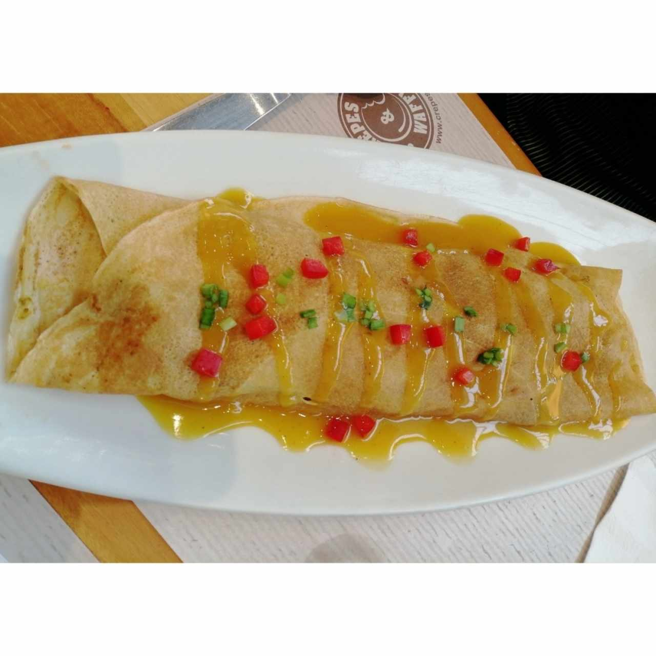 Crepes de pollo Thai