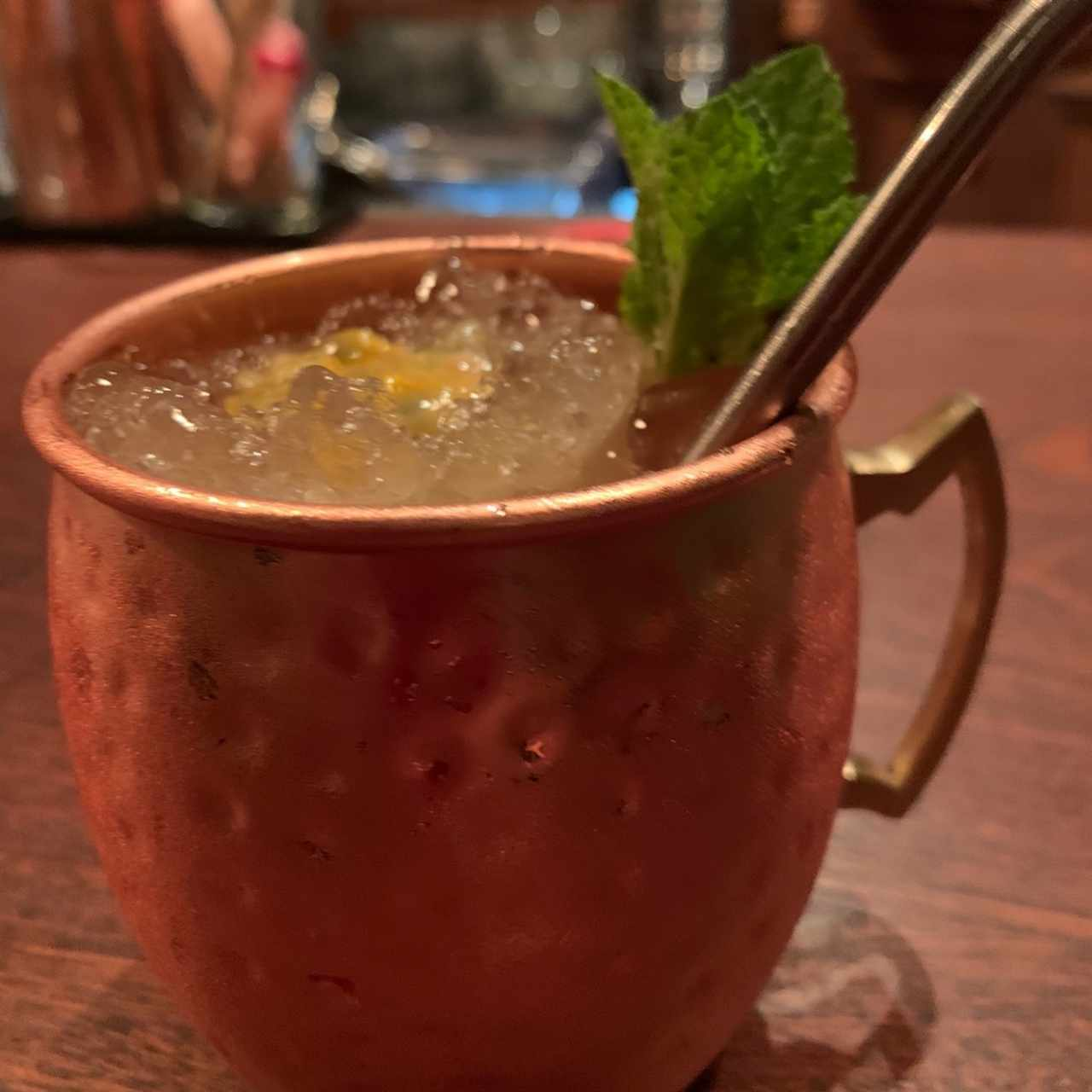 moscow mule version ron + maracuya