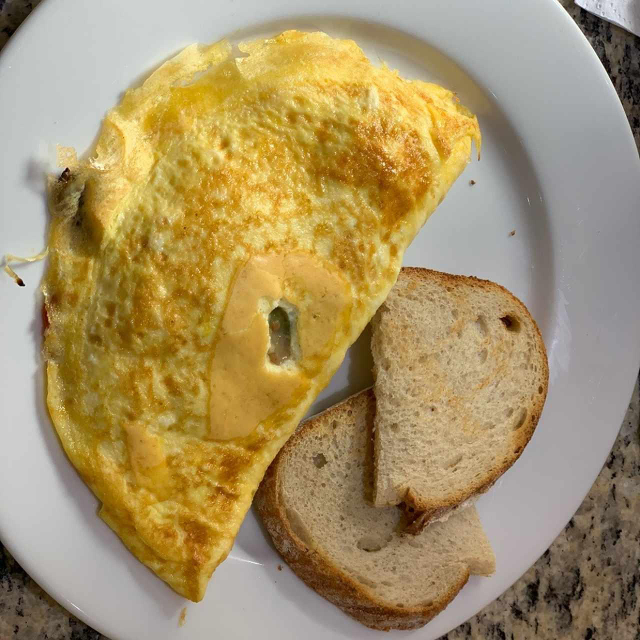 omelet pavo
