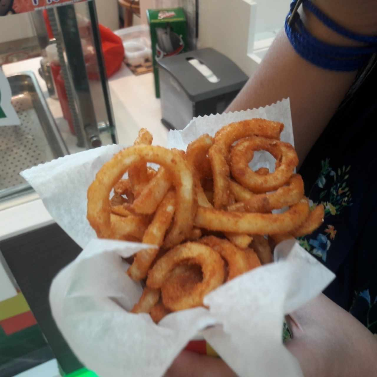 Curly Fries sabor a BBQ