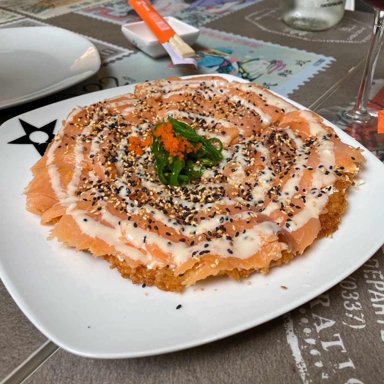 Pizza de salmon ahumado