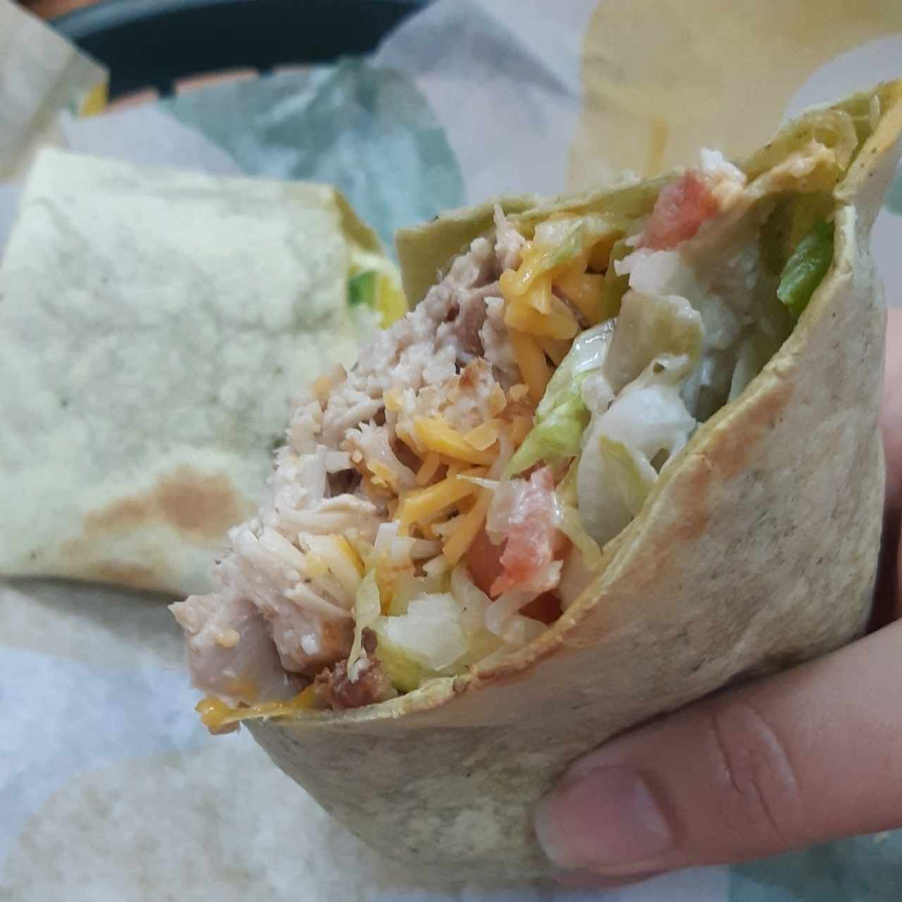 chicken ceasa wrap