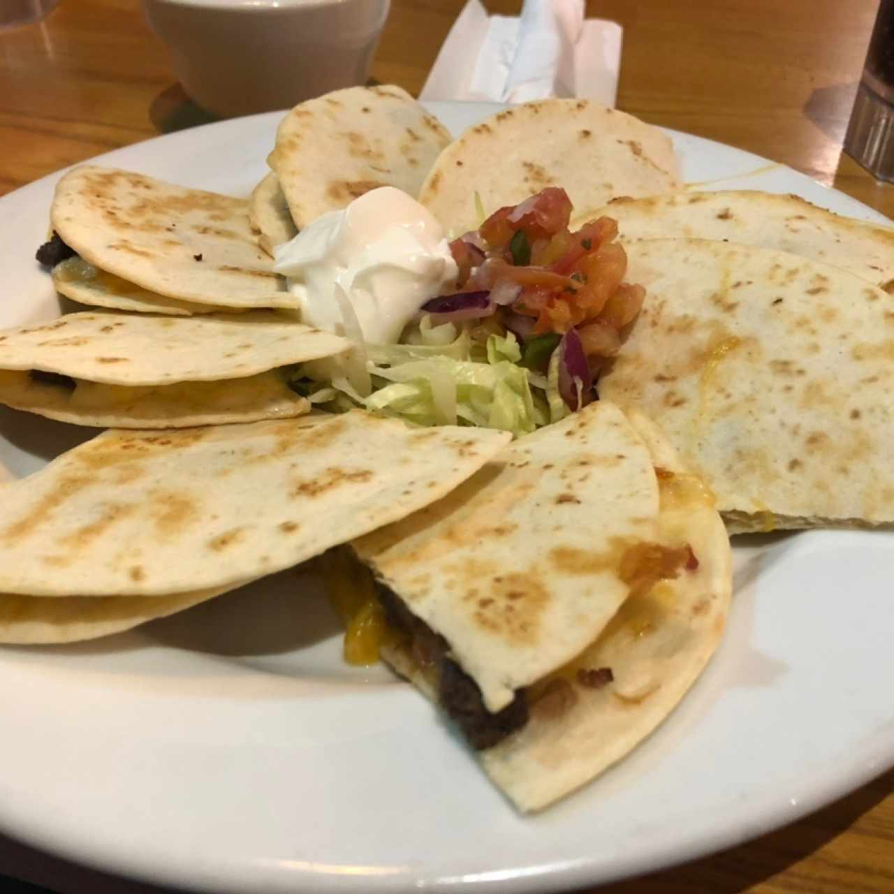quesadillas de res
