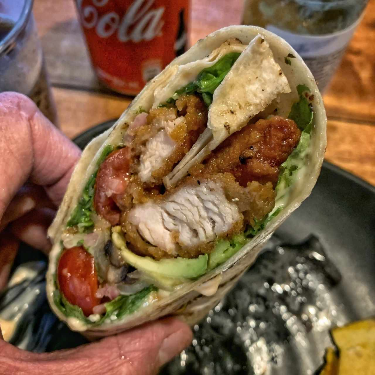 Wrap de Pollo (Spicy honey chicken wrap), está delicioso