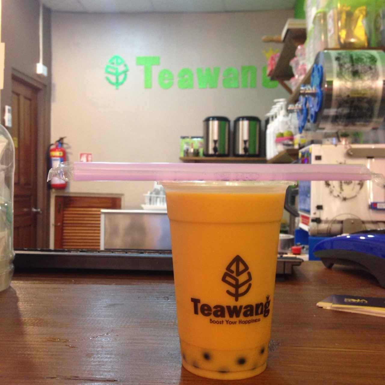 Bubble Tea de Thai con Tapioca de blueberry