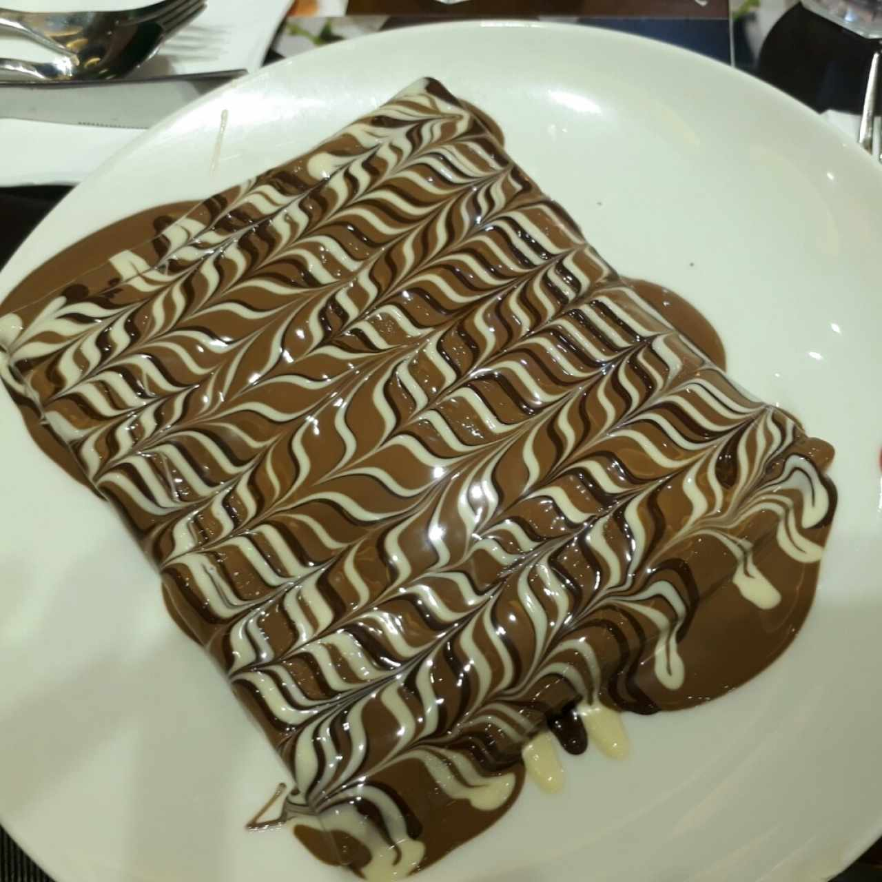 crepe con brownie