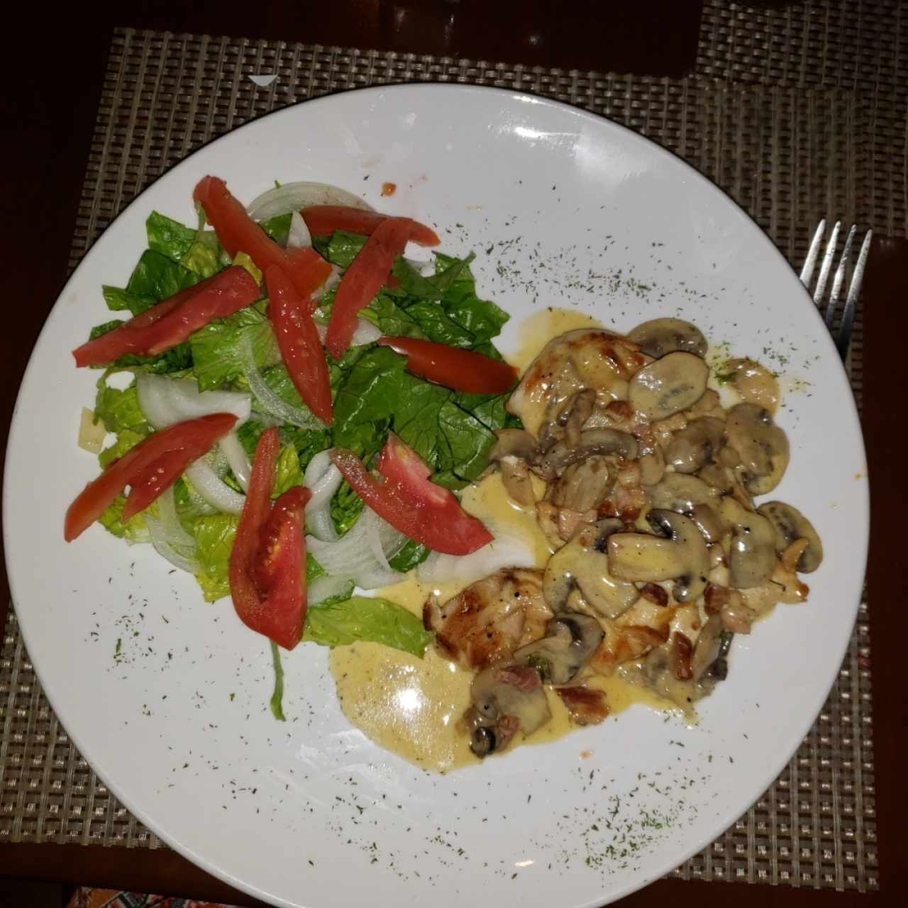 Filete de pollo a la Boscaiola