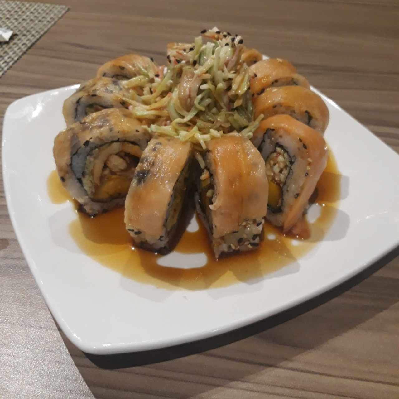 chicken and fish roll