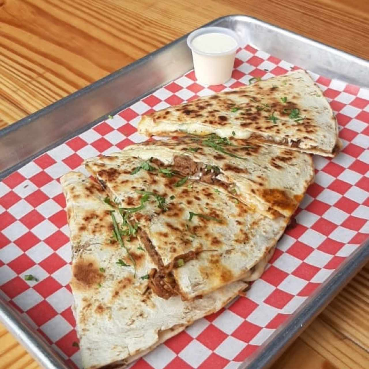 quesadillas carnitas