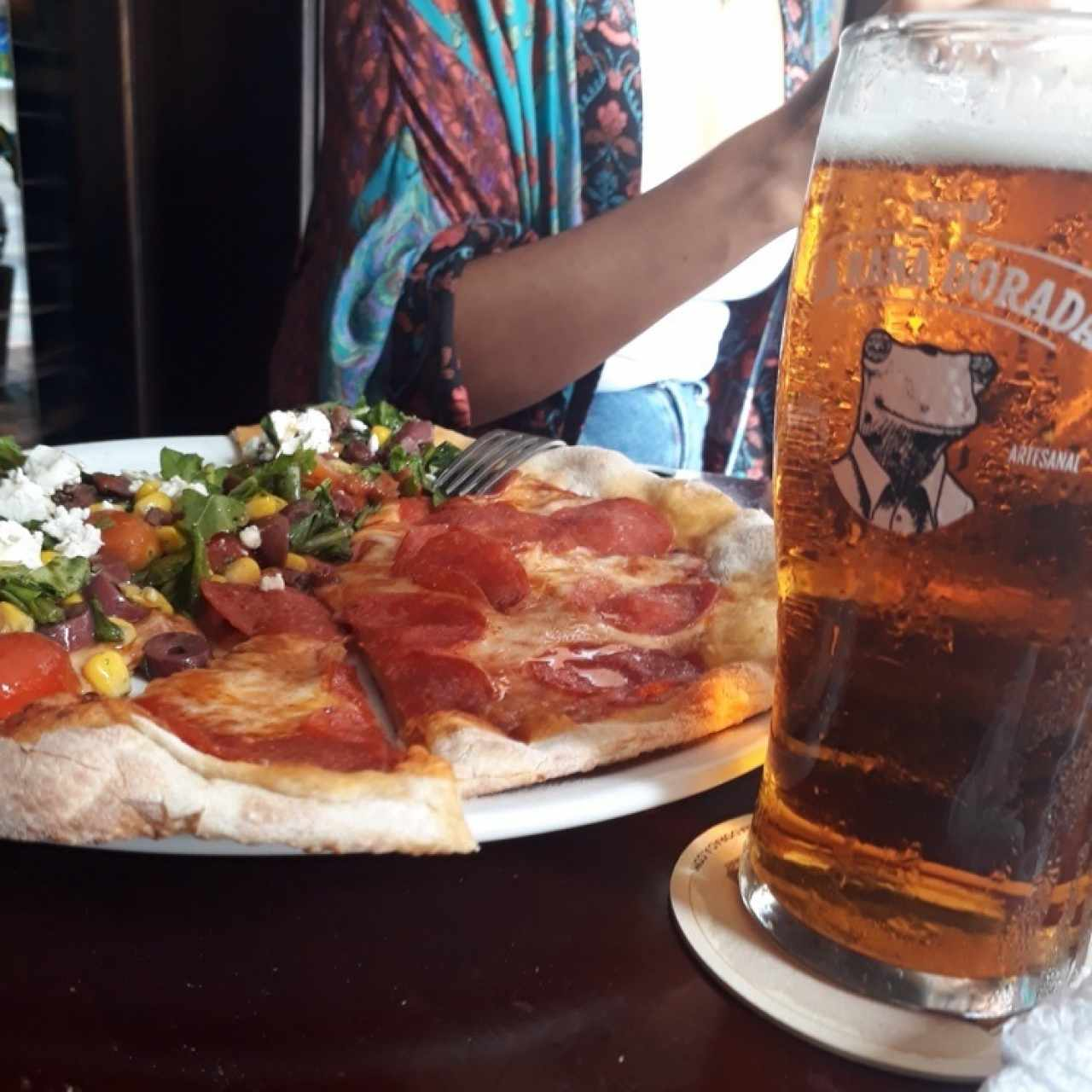 pale ale and pizza