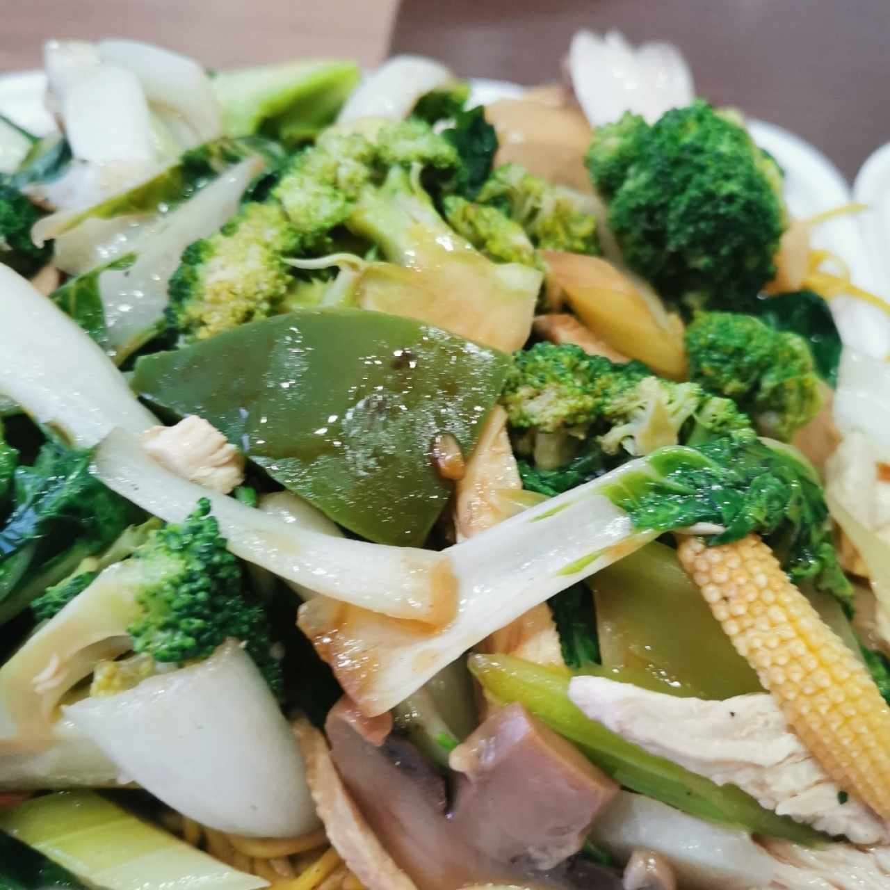 chowmein con vegetales