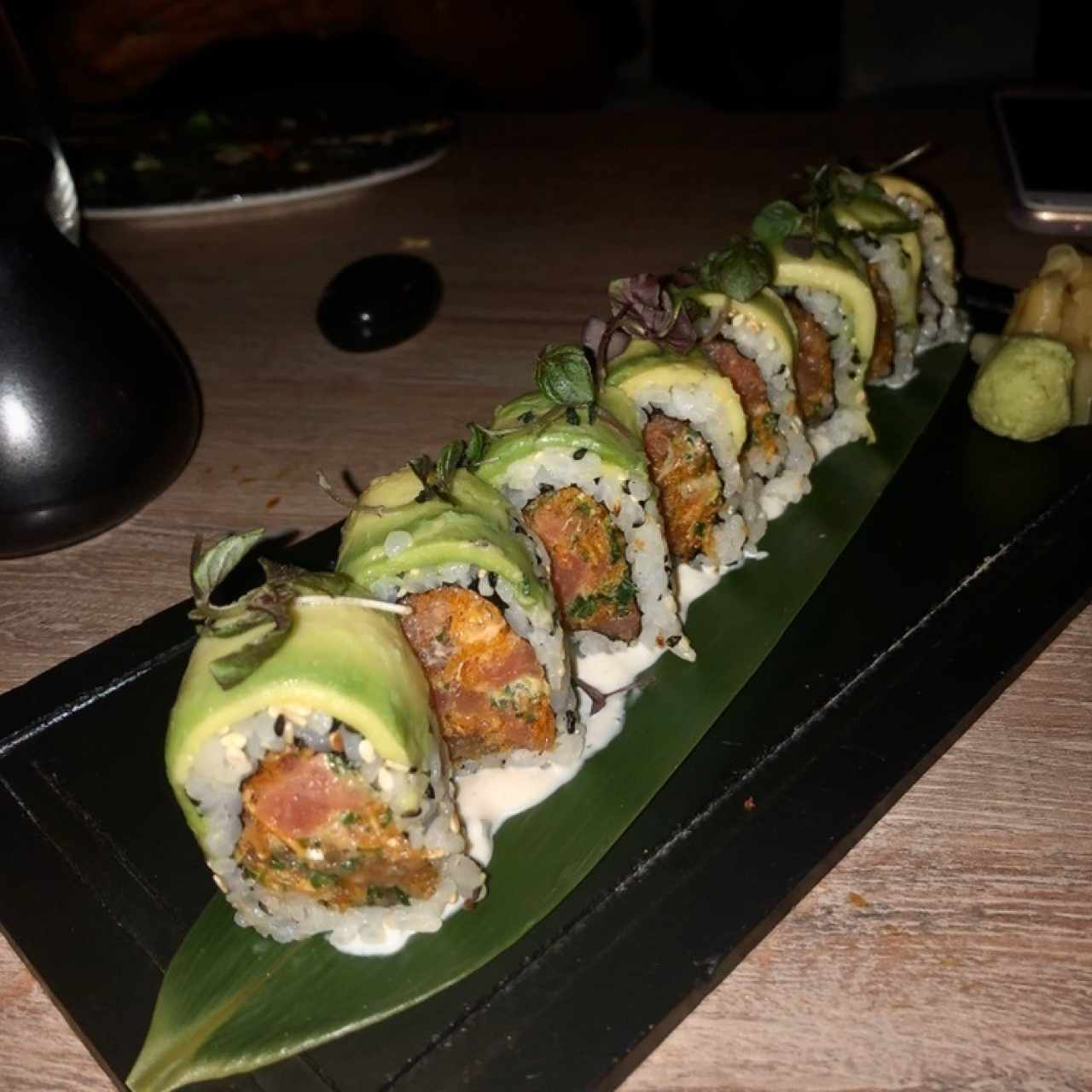 Spicy tuna crunch roll