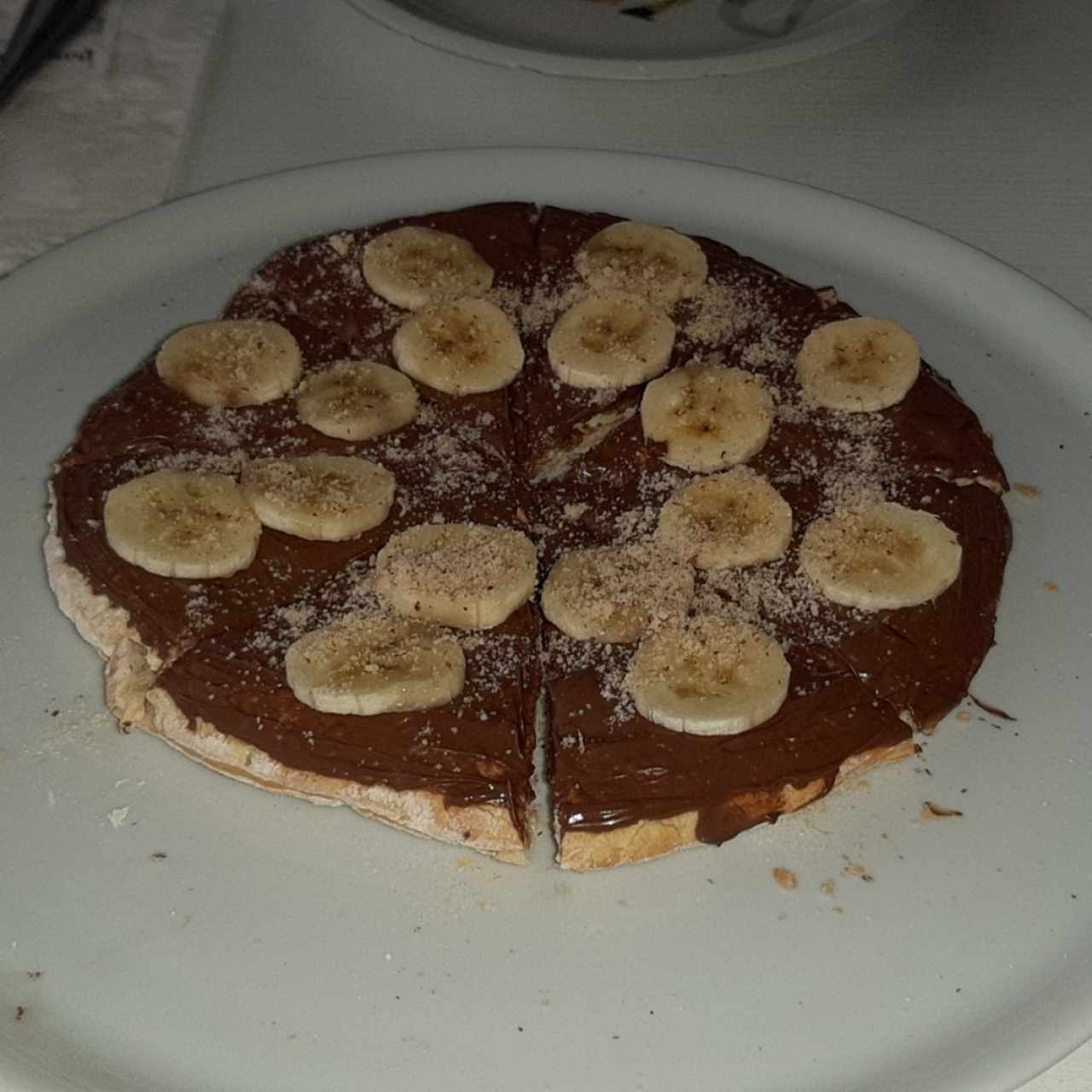 Pizza con Nutella y Banano
