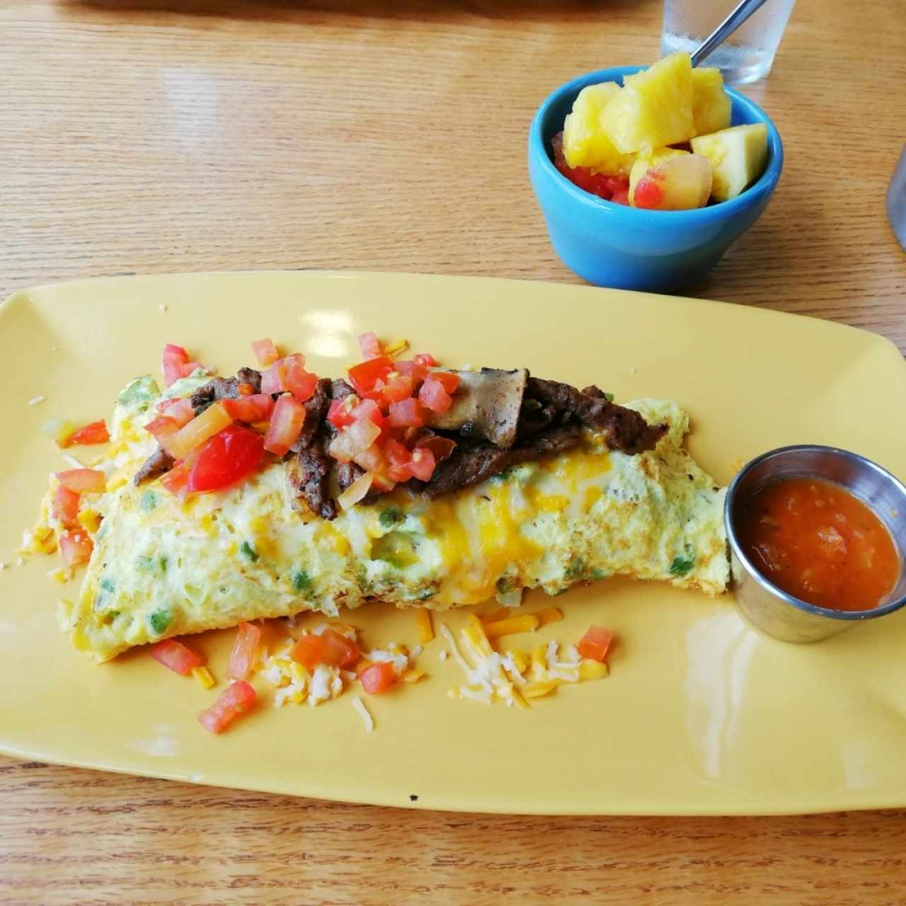 big steak omelette