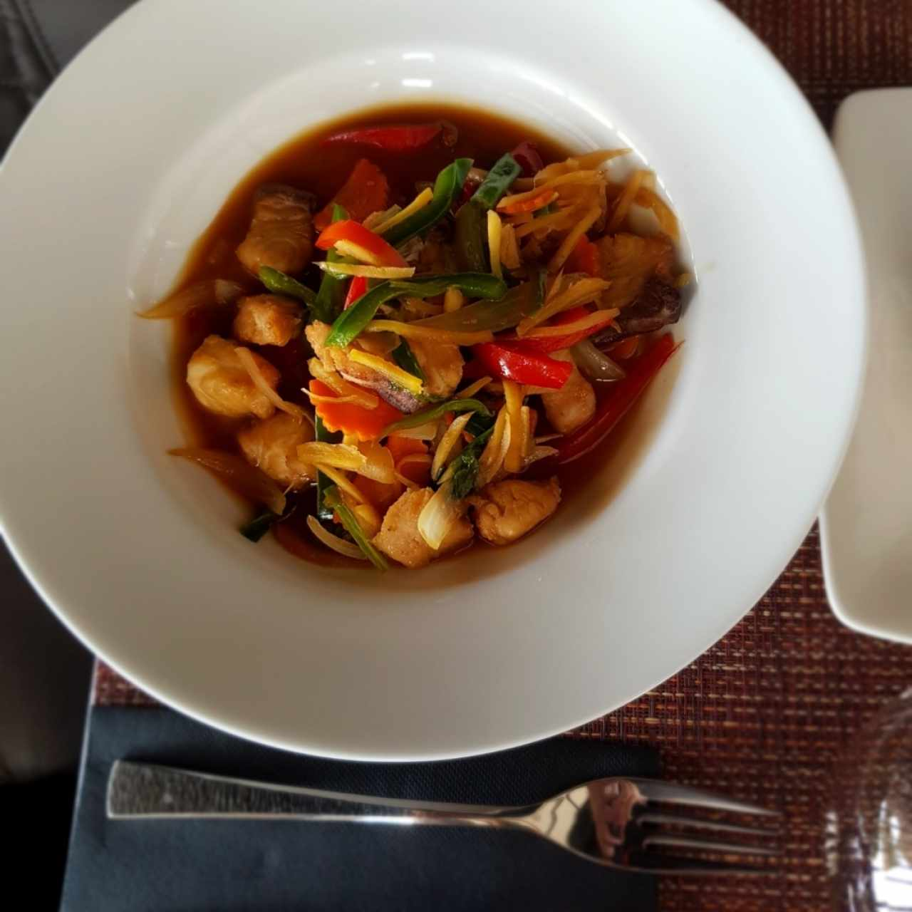 Ginger stir fry with fish