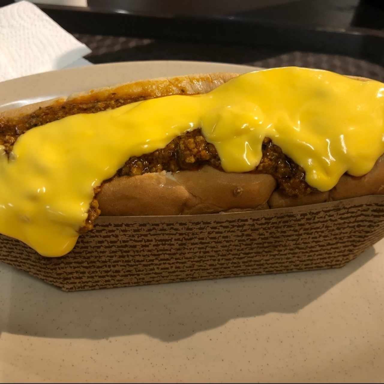 Chili Dog con queso