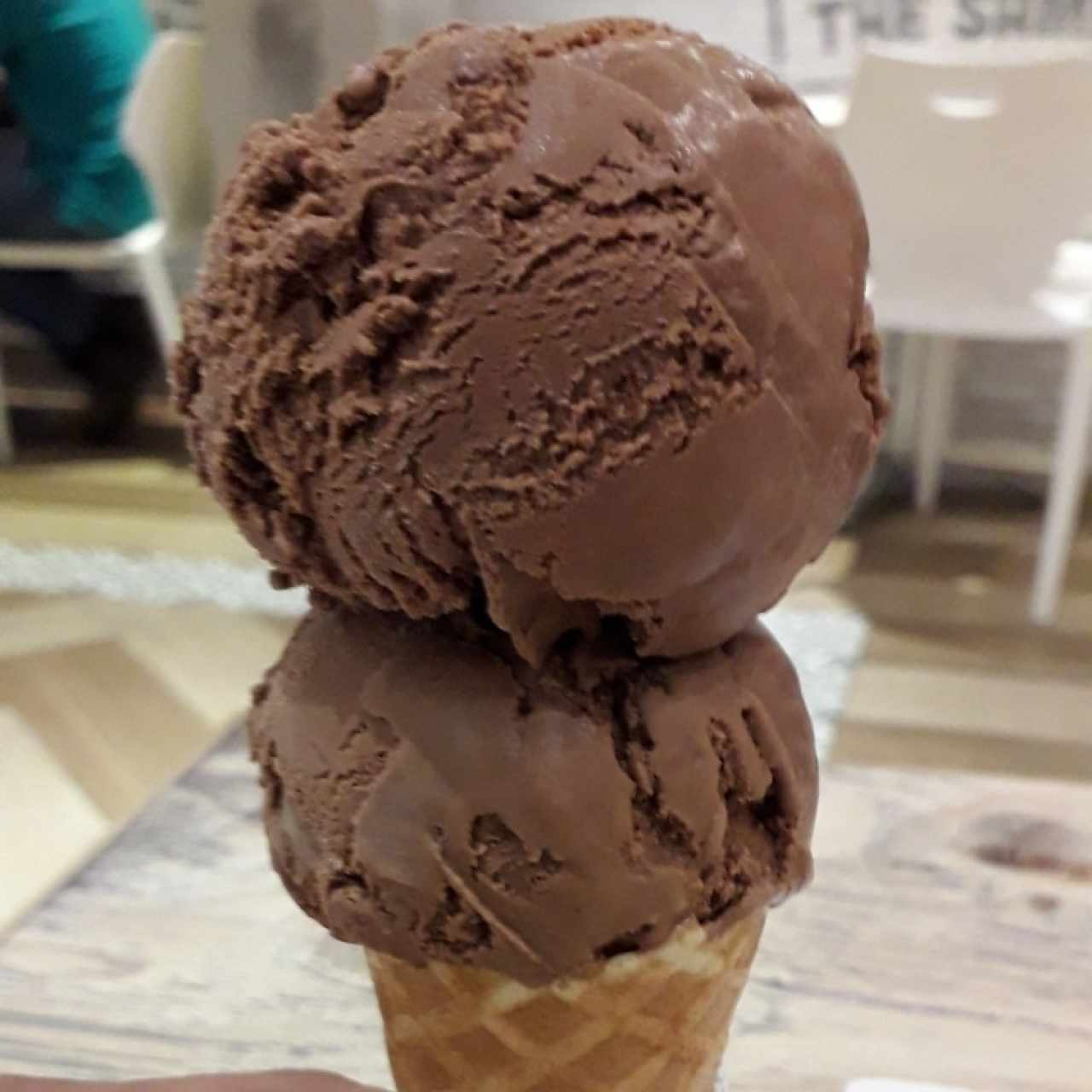 Helado chocolate doble